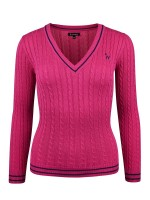 Isabell Werth Pullover Zopf pink