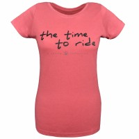 Isabell Werth T- Shirt the time to ride mineral red