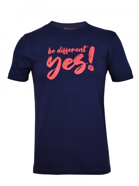 "Tim's Herren-T- Shirt ""be different"" navy"