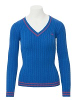 Isabell Werth Pullover Zopf royal