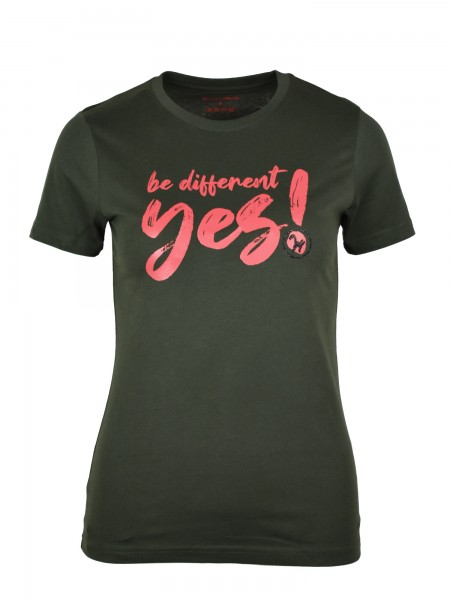 "Isabell Werth T- Shirt ""be different"" olive"