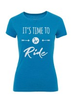 Isabell Werth T- Shirt Time to ride blau