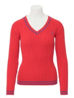 Isabell Werth Pullover Zopf rot