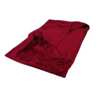 Cashmere-Mix Schal bordeaux red