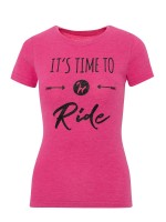Isabell Werth T- Shirt time to ride pink