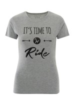 Isabell Werth T- Shirt Time to ride grau