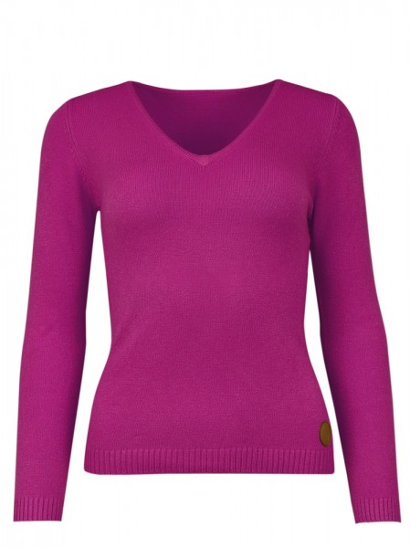 Isabell Werth Cashmere Pullover V Neck pink