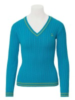 Isabell Werth Pullover Zopf blue