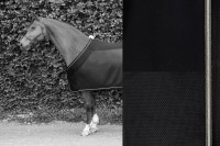 Tim´s Fly Rug black mit anthrazit, silber-lurex & anthrazit kordeln