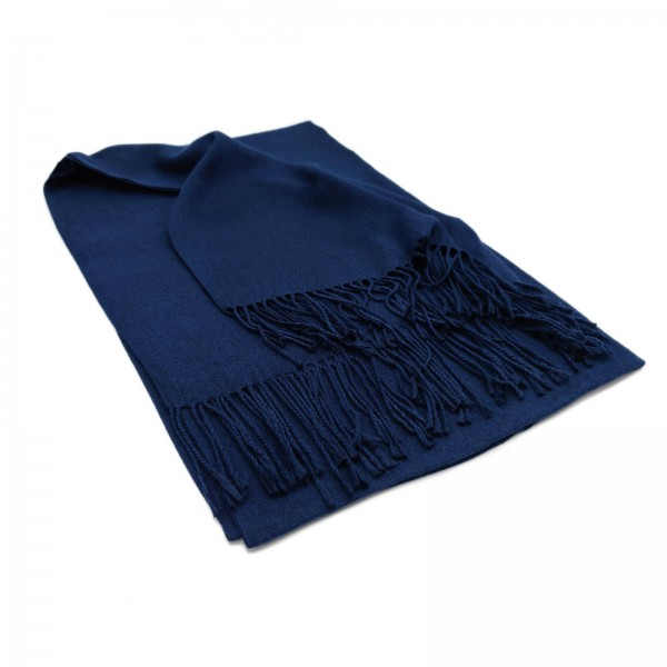 Cashmere-Mix Schal navy