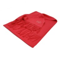 Cashmere-Mix Schal watermelon red mit Isabell Werth Logo