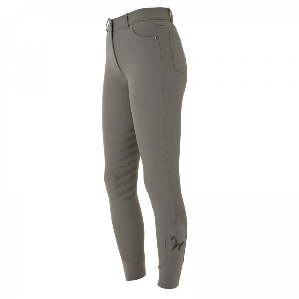 Damen Reithose Isabell Knie Grip taupe